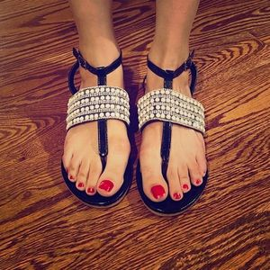New Size 6 Summer Sandals with adjustable strap.